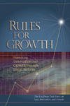 Read Rules for Growth: Promoting Innovation and Growth Through Legal Reform