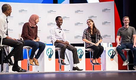 Panel of speakers at the Global Entrepreneurship Summit in 2016