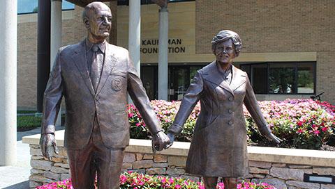 Kauffman Foundation statues