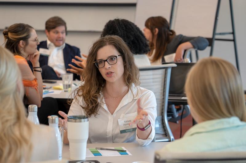 Kelsey Hampton at the Entrepreneurship Policy Network meeting
