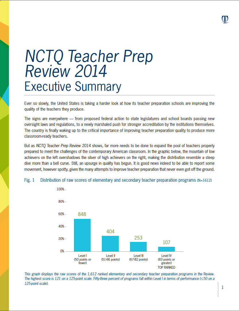 Read the Executive Summary of NCTQ's report