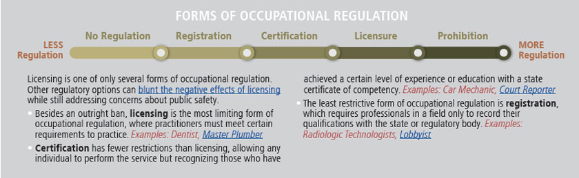 forms of occupational regulation
