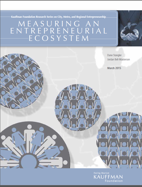 "Read the report ""Measuring an Entrepreneurial Ecosystem."""