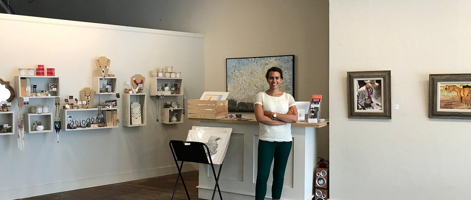 Melinda Pregont in her gallery