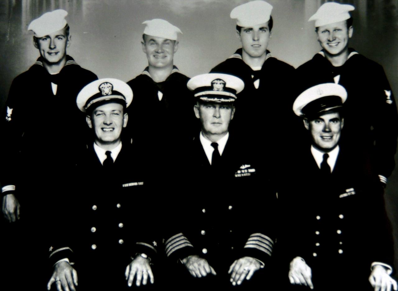 Mr. Kauffman, bottom right, U.S. Navy, World War II