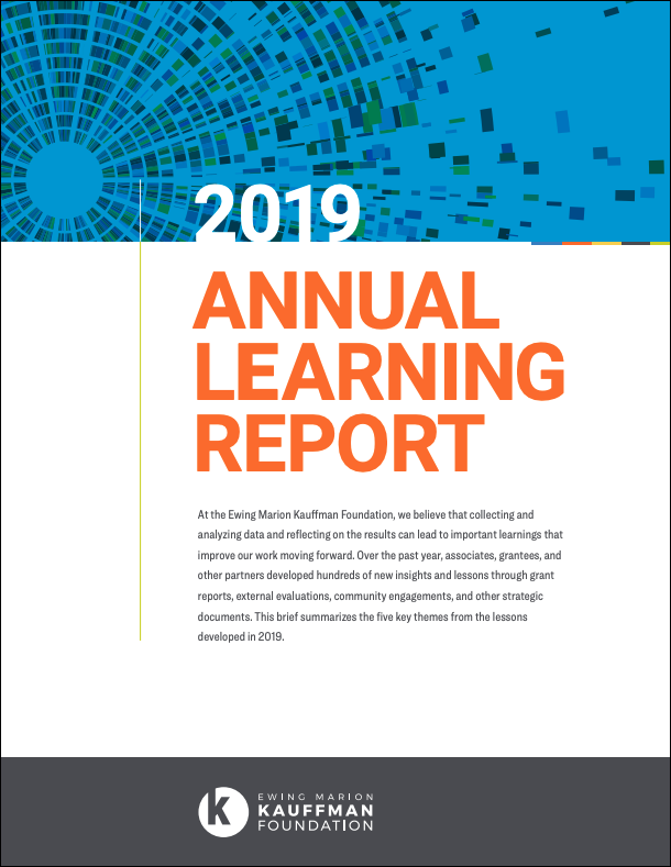 2019 Annual Learning Report, Kauffman Foundation