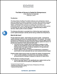 The State of Access to Capital for Entrepreneurs: From Barriers to Potential (Executive Summary)