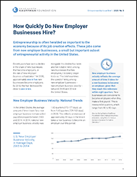 How Quickly Do New Employer Businesses Hire? | Entrepreneurship Issue Briefs, No. 3
