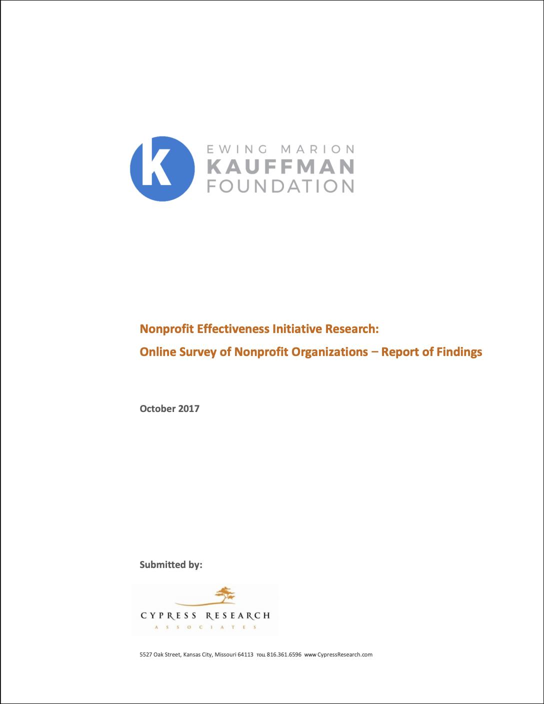 Kauffman Foundation Nonprofit Effectiveness Report 2017
