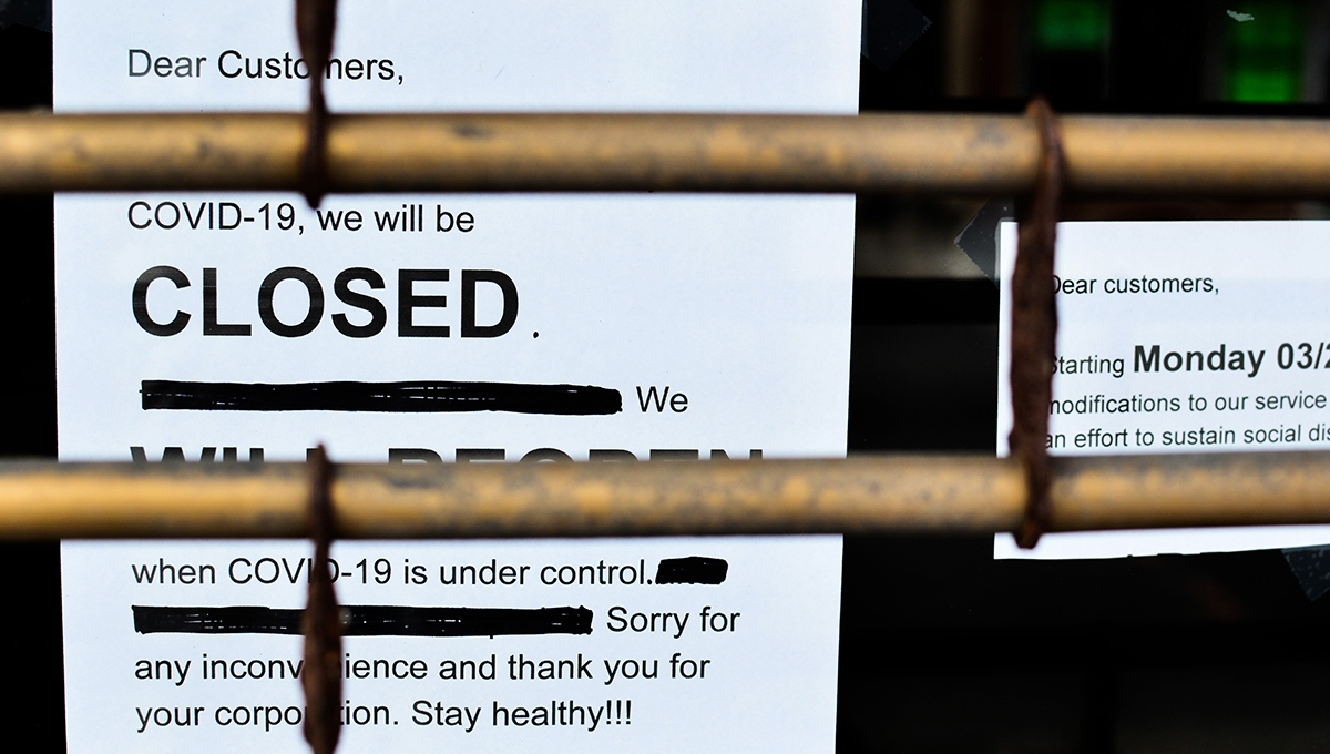 Business closed because of COVID-19