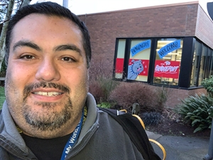 David Jaimes at the start of a regular school day