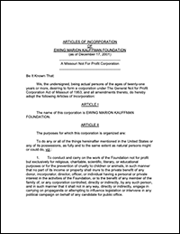 Read the Articles of Incorporation