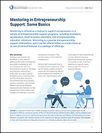 Mentoring in Entrepreneurship Support: Some Basics | Entrepreneurship Issue Brief, No. 4