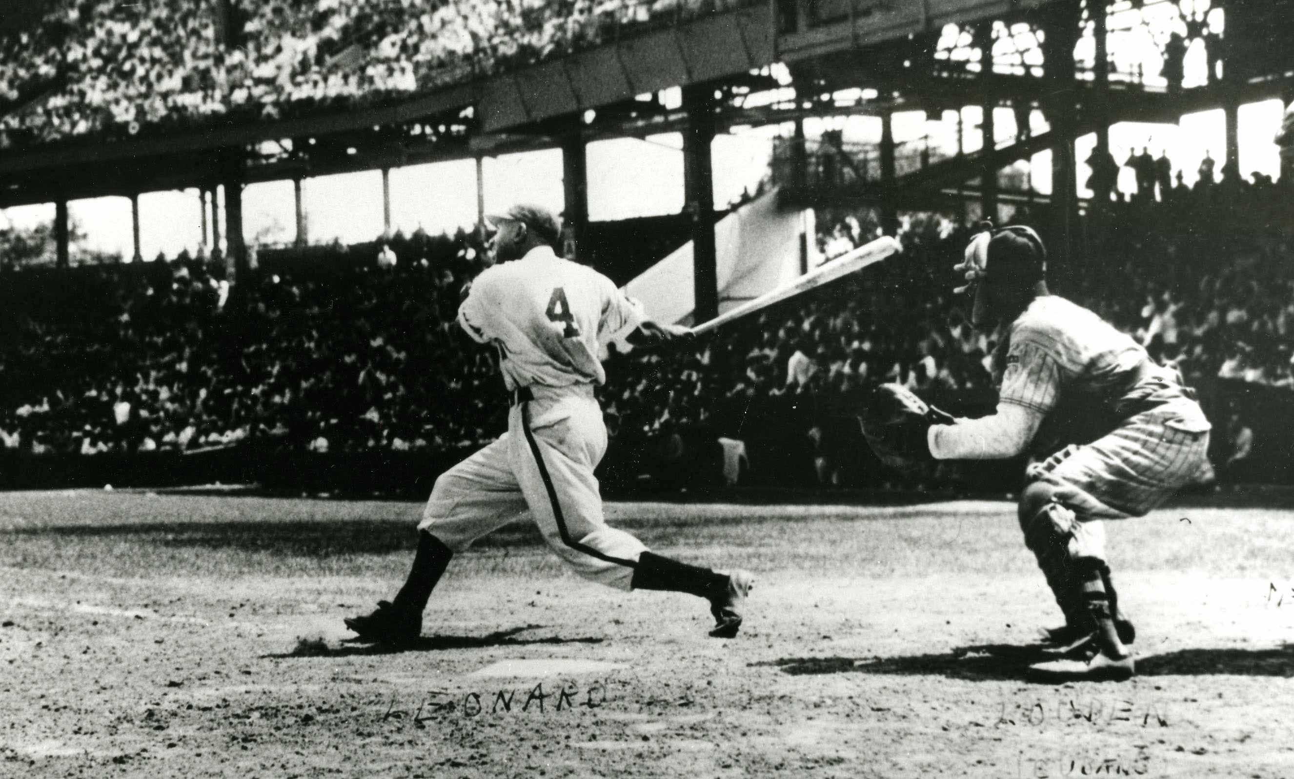Walter Leonard batting