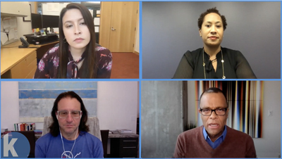 Zoom conversation between Kim Wallace Carlson, Tawanna Black, Brad Feld, and Philip Gaskin