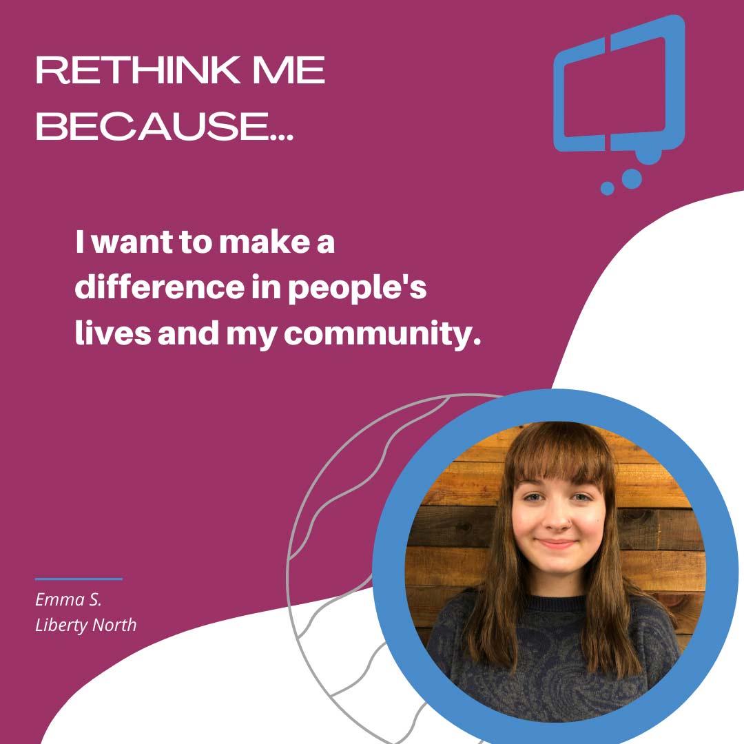 Emma, Rethink Youth 2021