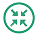 Goal 1, green icon with arrows pointing inward