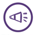 Goal 6, purple icon with a megaphone in the center