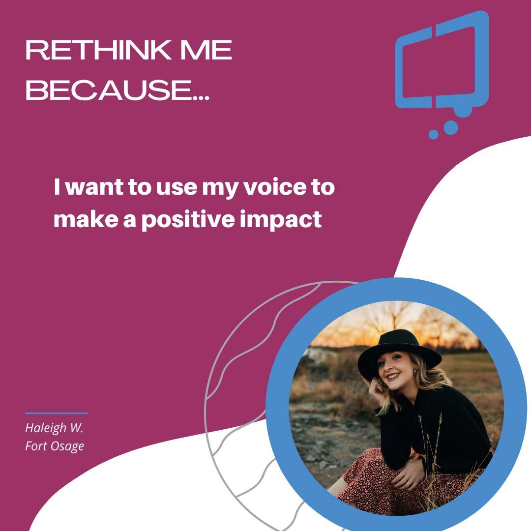 Haleigh, Rethink Youth 2021