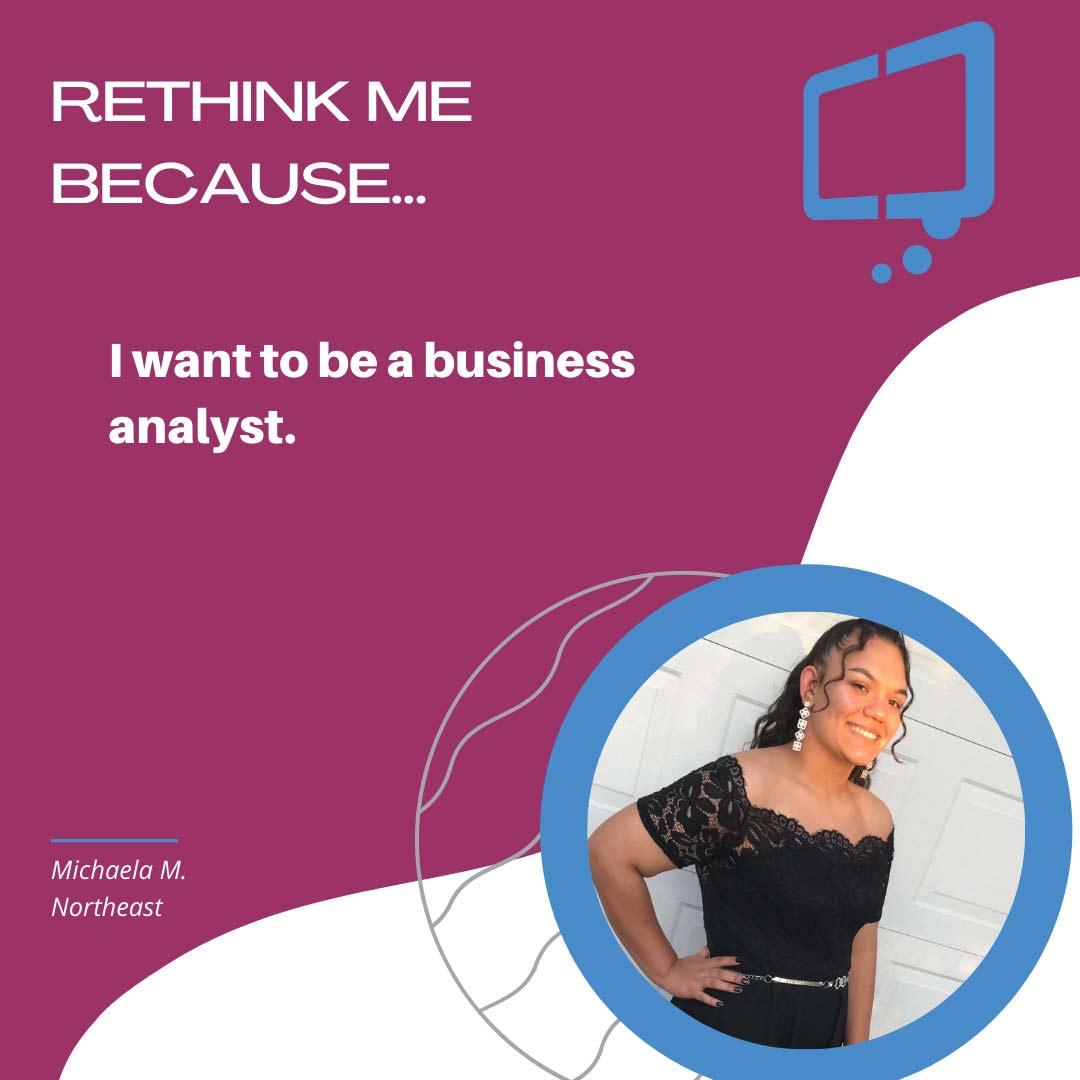 Michaela, Rethink Youth 2021
