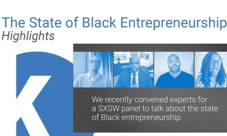 "A Zoom capture of Kauffman Foundation's panel at SXSW 2021, ""The State of Black Entrepreneurship"""