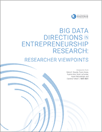 Kauffman Big Data Directions report cover