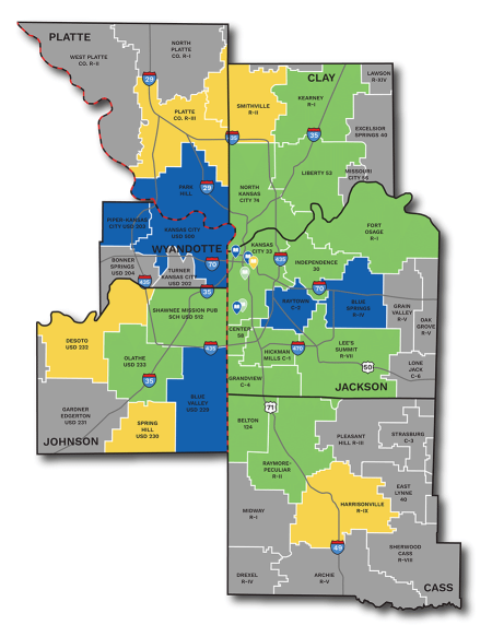 Map of schools participating in RWL